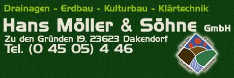 Hans Möller & Söhne Gmbh, Dakendorf, Tel. 04505-446